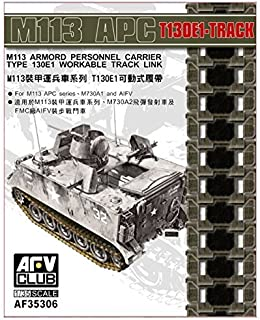 AFV Club 1/35 M113 armored personnel carriers based T130E1 movable track plastic model parts FV35306
