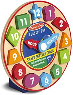 Melissa and Doug Shape Sorting Clock 8593 - Activity and Amusement
