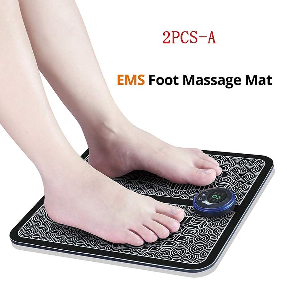 テクニカルクラシック要件EMSスマートフットマッサージパッド、フットマッサージャー、足指圧療法、血液循環を促進し、男性と女性の疲労を軽減、2PCS,A