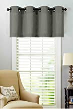 Regal Home Collections Luxurious Oversized Grommet Top Window Valance - Assorted Colors (Gray)
