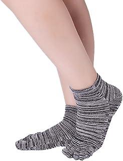 YiyiLai Women Cotton Soft Anti Slip Grips Full Toe Fitness Yoga Pilates Socks