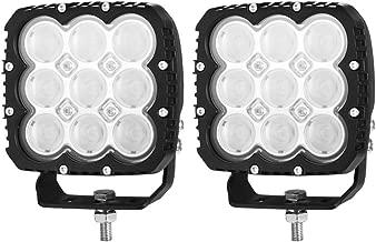 LIGHTFOX Pair 5inch LED Work Light Bar Spot Flood Fog Driving Lights OffRoad 4WD Reverse 3 Year Warranty