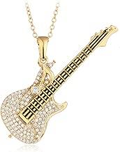 HONGYE Gold Plated Love Cubic Zirconia Glitter Heart-Shaped Diamond Pendant Necklace