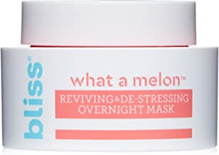 Bliss - What a Melon Overnight Facial Mask   Reviving & De-stressing Overnight Mask   Hydrates, Nourishes, and Softens  All Skin Types   Vegan   Cruelty Free   Paraben Free   1.7 fl.oz