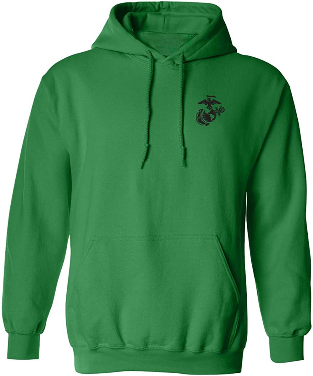 zerogravitee Marines Emblem Left Chest Adult Hooded Sweatshirt