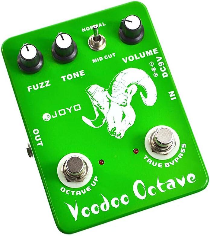 JF-12 Voodoo Octave Fuzz Pedal de efecto de guitarra Bajo eléctrico Efectos dinámicos True Bypass Accesorio de guitarra musical