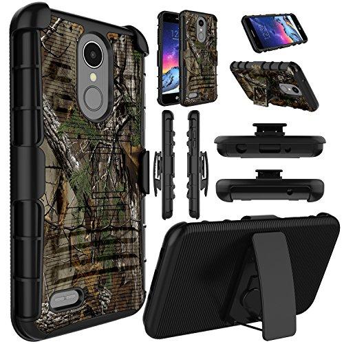 LG Aristo 3 Plus Case, LG Fortune 2 Case,LG Aristo 3 / LG Tribute Empire / K8S 2019 / Rebel 3 / LG Aristo 2 / LG Phoenix 4 Case, Elegant Choise Holster [Belt Clip] with Kickstand Protective Case-Camo