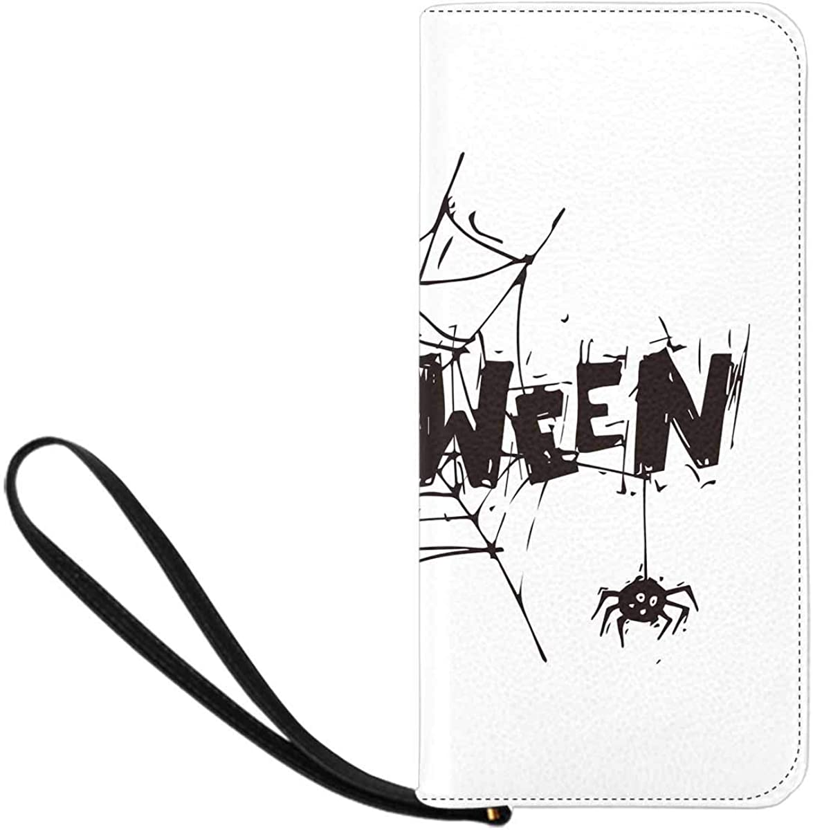 INTERESTPRINT Happy Halloween Spider Web with the Spider Clutch Purse for Women Evening Party