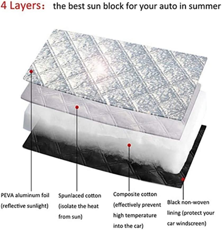 dxS8hhuo Auto Car Winter Snow Ice Frost Sun Shade Front Rear Windshield Protector Cover