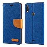 Wiko View 2 Plus Case, Oxford Leather Wallet Case with Soft