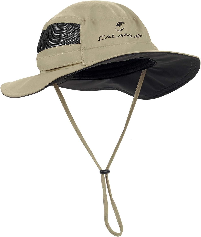 Calamus UPF 50 Boonie Sun Hat– Sun Protection Hat, Fishing Hat, Beach & Hiking Hat, Golf Hat, Hunting Hat, Paddling, Rowing, & Kayaking - Kaki : Sports & Outdoors