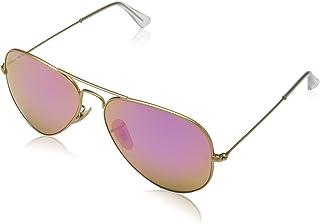 82680f553 Óculos de Sol Ray Ban Aviador Rb3025L 0013E Ouro Lente Espelhada Marrom Rosa  Tam 55