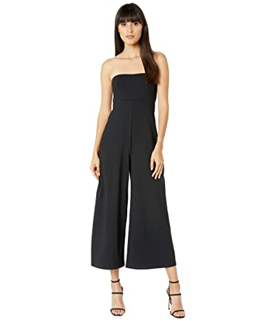 Susana Monaco Strapless Cropped Jumpsuit (Black) Women