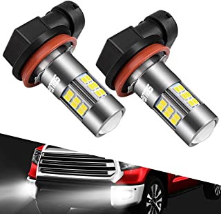 SEALIGHT H11/H8/H16 LED Fog Lights Bulbs Cool Xenon White 6000K 27 CSP Chips Non-polarity