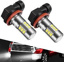 SEALIGHT H11/H8/H16 LED Fog Lights Bulbs Cool Xenon White 6000K, Upgrade 27x CSP Chips Non-polarity