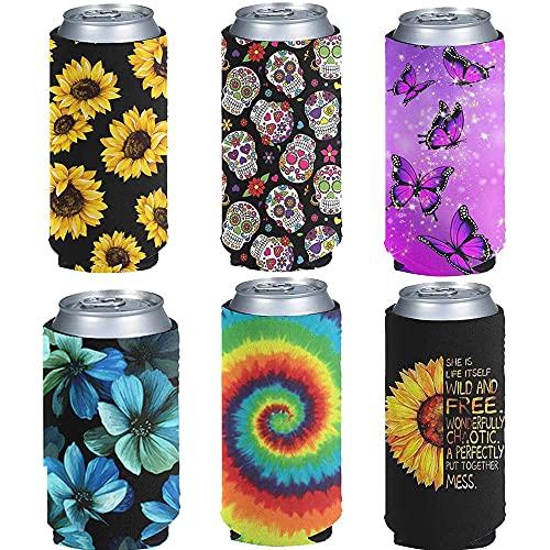Jeiento Juego de 6 fundas de neopreno para latas y botellas para fiestas, eventos o bodas, a granel