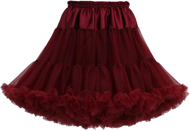 Joygown Women's Elastic Waist Multi-Layer Tulle Tutu Short Skirt Petticoat