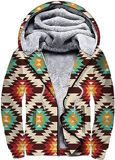 Men's Winter Plus Size Jacket, Heavyweight Zip Up Pullover Hoodie Wool Sweatshirt Jacket Fleece Warm Thick Coats