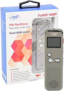 Digital Voice Recorder, Voice/Video Recorder PNI Redstone Audio Stereo, Video 1080P, MP3 Player, microSD Card 8GB Included...