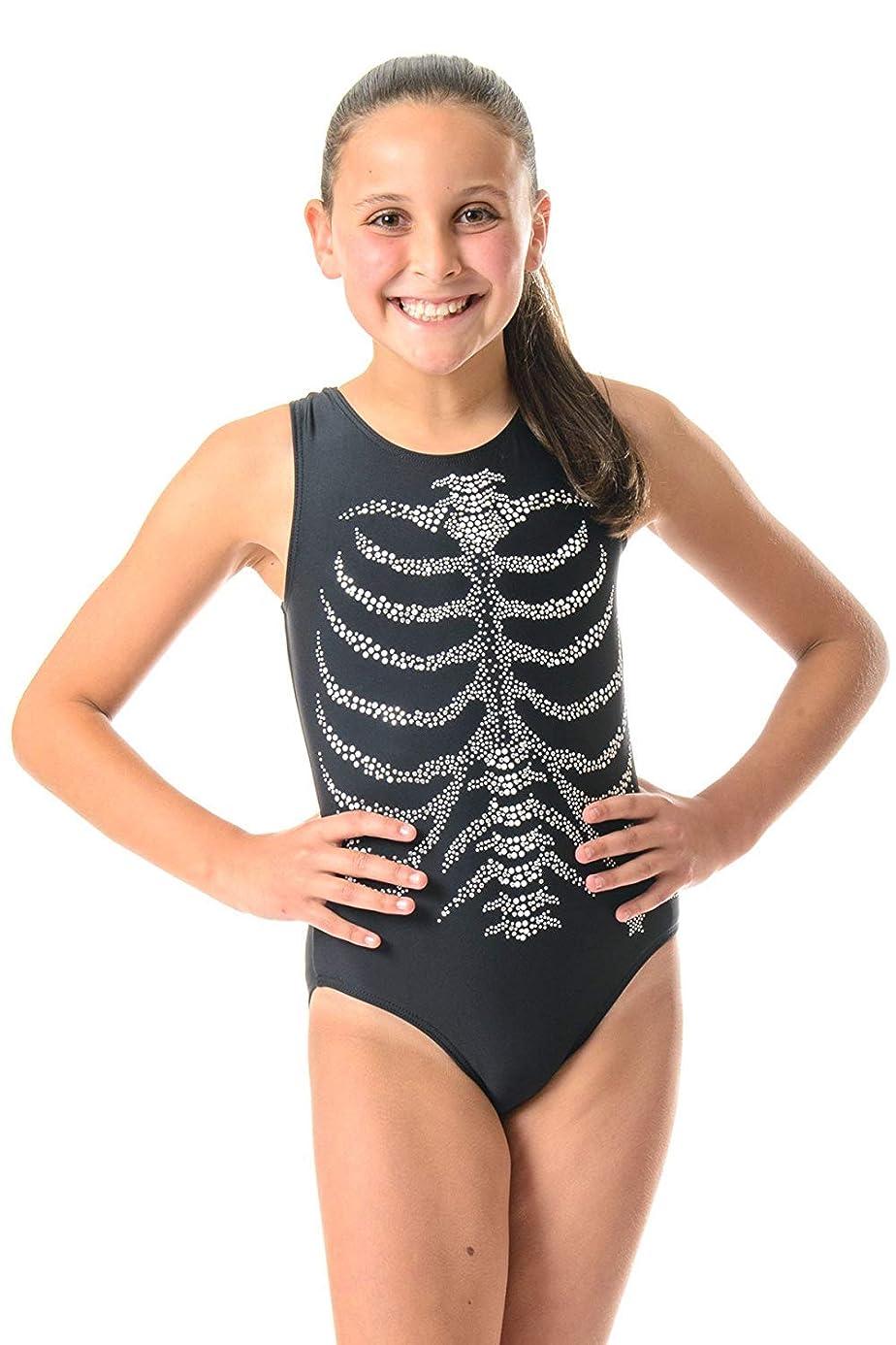 DESTIRA Skeleton Rib Cage Graphic Leotard, CXXS-JR