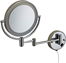 Makeup Mirror Double Sided Swivel LED Lighted Bathroom Mirror 3X Magnifying Mirror Extendable Folding Round Shape Beauty M...