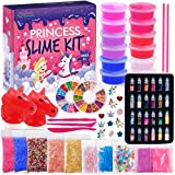 Princess Slime Kit for Girls - Water Based Colorful Premade Slime, Glow in the...