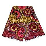 Afrikanischer Stoff, pink/weich, rote Senfkreise, Wachstuch