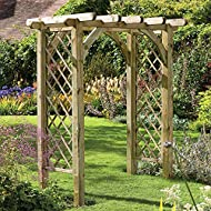 Lattice panels for climbing plants Supplied with extra leg length for sinking into the ground Width between the posts is 128cm Dimensions (cm): 245 x 182 x 136 Pressure treated for minimal maintenance and longer life