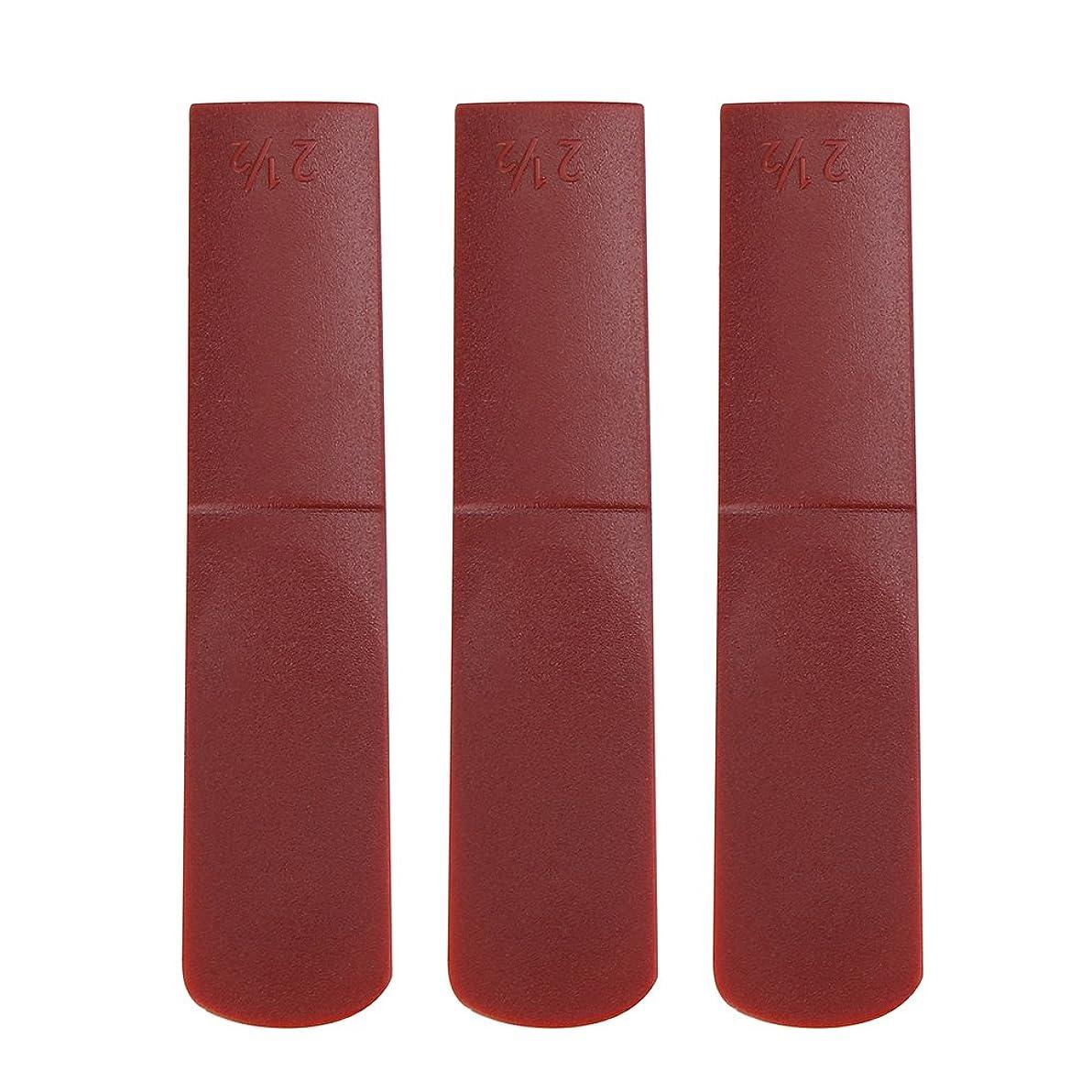 にはまって卒業兵器庫サックスリード 2.5 サクソフォン アルトサックスリード 樹脂製 安全無毒 初心者のため 修理 アクセサリー(赤)
