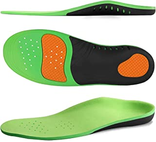 Arch Support Insoles, Flat Feet, Plantar Fasciitis Orthotic Inserts with Gel Sports Comfort Best Shock Absorption Breathable Insole for Men and Women