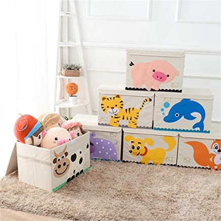 Qichengdian Children s storage box Foldable Laundry Basket Pop-up Room Tidy Storage Chest Toy Box Girl And Boy Perfect Home Storage  Fabric Toy Ideal for storing toy books and clothes