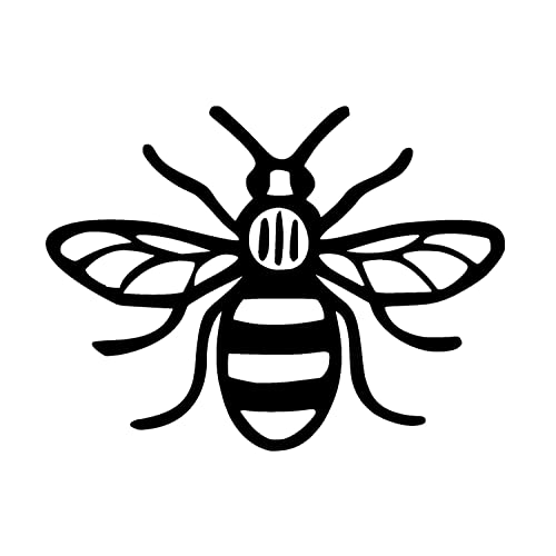 the manchester bee amazon co uk God of Bees made in manchester bee car bumper sticker decal 12 x 12 cm