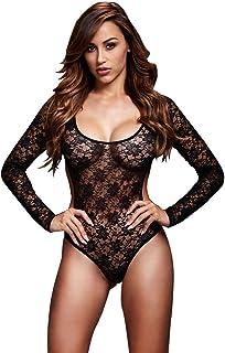 82a46b1f9 Baci Lingerie Women s Lace Bodysuit Back Cutout 1 Piece