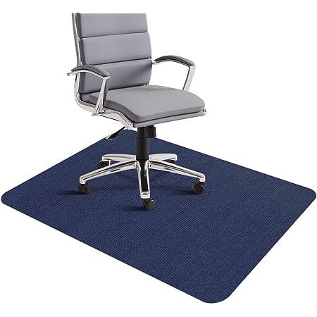 チェアマット 140x90cm ずれない フローリング 椅子 床 保護マット 傷防止 滑り止め 丸洗い可能 カット可能 吸音 幅広く使える 足元マット フロアマット (ネイビーブルー)