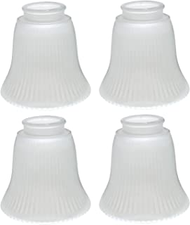 Aspen Creative 23014-4 Transitional Style Replacement Bell Shaped Frosted Ribbed Glass Shade, 2 1/8