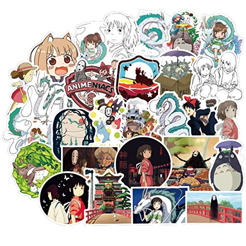 DSSJ Pegatinas de Anime Spirited Away No Face Man para Snowboard, portátil, Equipaje, Nevera, Coche, calcomanías de Estilo, 50 Uds