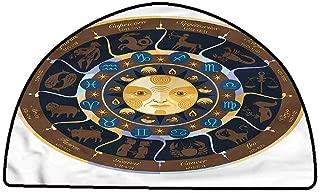 Rug Bathroom Mat Astrology,Mystic Oriental Horoscope,W35