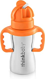 Thinkbaby Stainless Steel Thinkster Bottle, Orange (9 ounce)