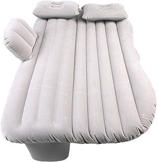Dioche - Colchón de cama hinchable para coche, cama para asiento trasero, cama con bomba, colchón de viaje, puede soportar 150 kg, para descanso, sueño, viajes de camping (gris plata)