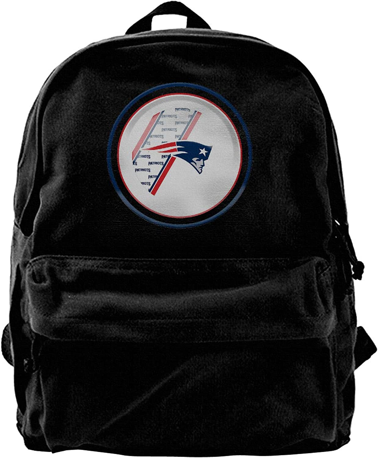 Canvas Backpack New-England-Patriots Round Sign 14 Inch Laptop Casual School College Bags Travel Rucksack