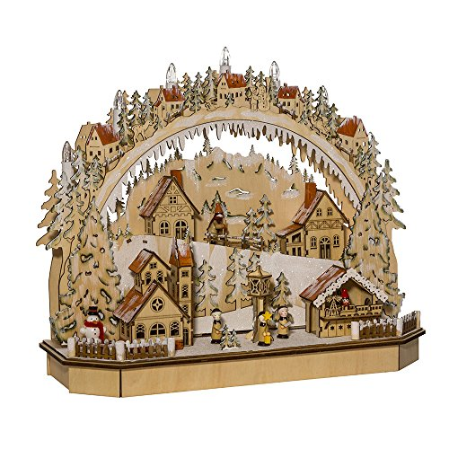 Kurt Adler 18-Inch Battery-Operated LED Village Tablepiece