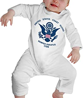 Baby's United States Coast Guard 1790 Jumpsuit Bodysuit Clothes, Long Sleeve One-Piece Coverall, 100% Organic Cotton