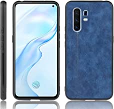 For Vivo X30 Pro Shockproof Sewing Cow Pattern Skin PC + PU + TPU Case New(Black) LKay (Color : Blue)