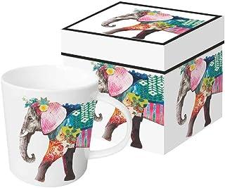 Paperproducts Design 603319 mugg i presentask, benporslin, flerfärgad