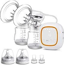 Electric Breast Pump, Double Breast Pump, Portable Dual Suction Nursing Breastfeeding..
