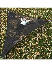 Revolutionaire Giant Aerial Camping Hangmat - Multi-person Hangmat 3 Point Design, 2021 Nieuwe Draagbare Outdoor Driehoek Hangmat 2.8M, Boomhuis Air Sky Tent voor buiten, Tuin en Patio