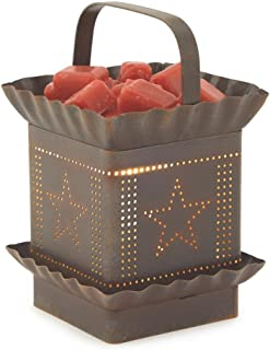 CANDLE WARMERS ETC. Tin Punched Illumination Fragrance Warmer, Primitive Tin Starlight