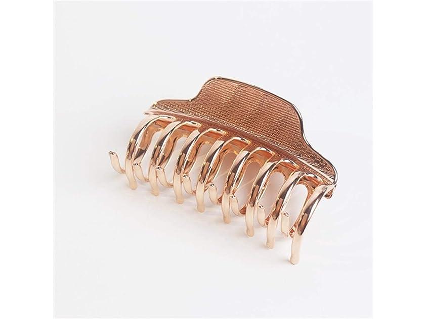 ひらめき九月大統領Osize 美しいスタイル シンプルな合金のグラブクリップ大人のバスシャーククリップヘアクリップヘアアクセサリー(ローズゴールド)