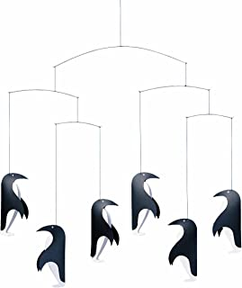 Flensted Mobiles Penguin In Tails Hanging Nursery Mobile - 18 Inches Plastic