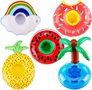 E-TING Swim Ring Summer Fun Swimming Pool Float Raft Lilo Lifebuoy for Girl Dolls,Pool Party and Kids Bath Toys Inflatable...